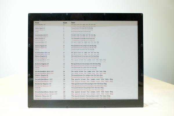 """e-paper display"""